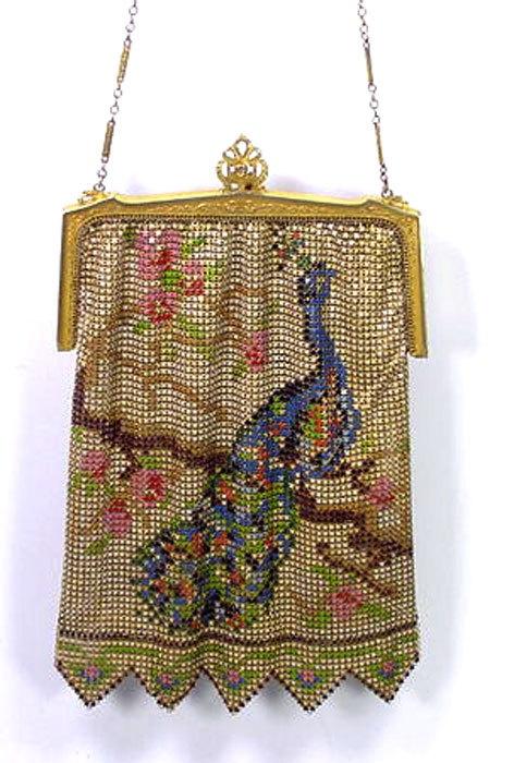 Whiting & Davis 1920s Whiting And Davis Colorful Mesh Bag 4ACBhH06