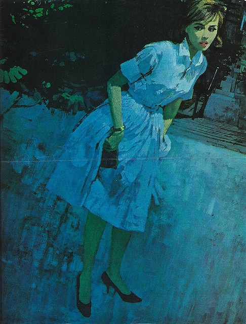 Publication unknown Illustrated by Bernie Fuchs 1960's Courtesy of Charlie Allen