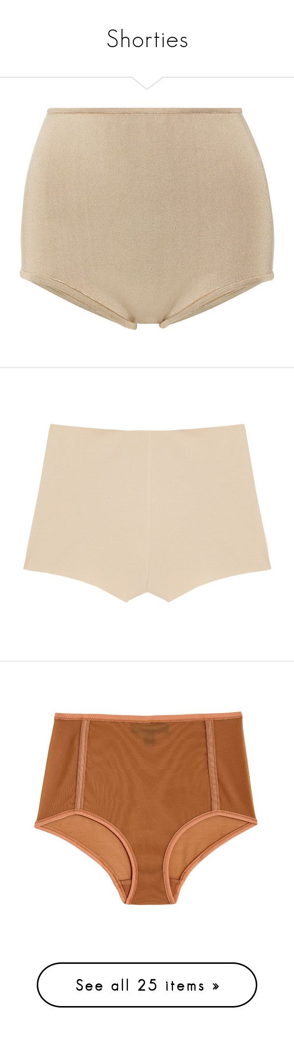 """""""Shorties"""" by laylah-wish ❤ liked on Polyvore featuring shorts, bottoms, balmain, underwear, beige, beige high waisted shorts, beige shorts, highwaist shorts, high rise shorts and intimates"""