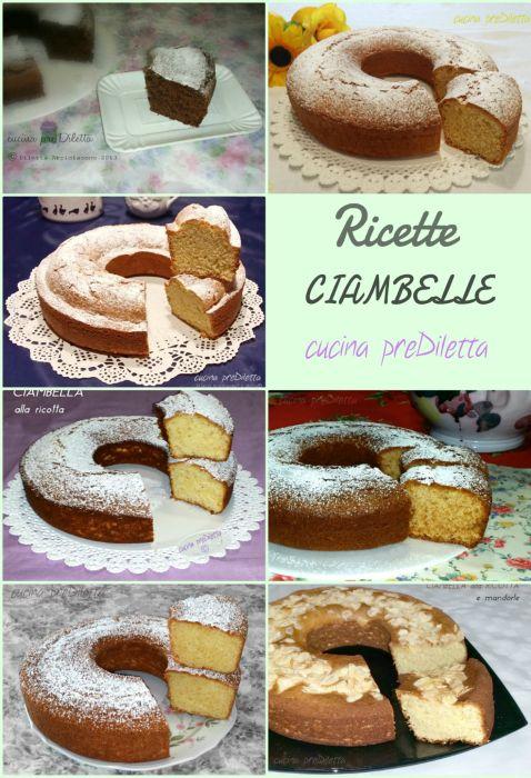 Ricette CIAMBELLE - raccolta ricette