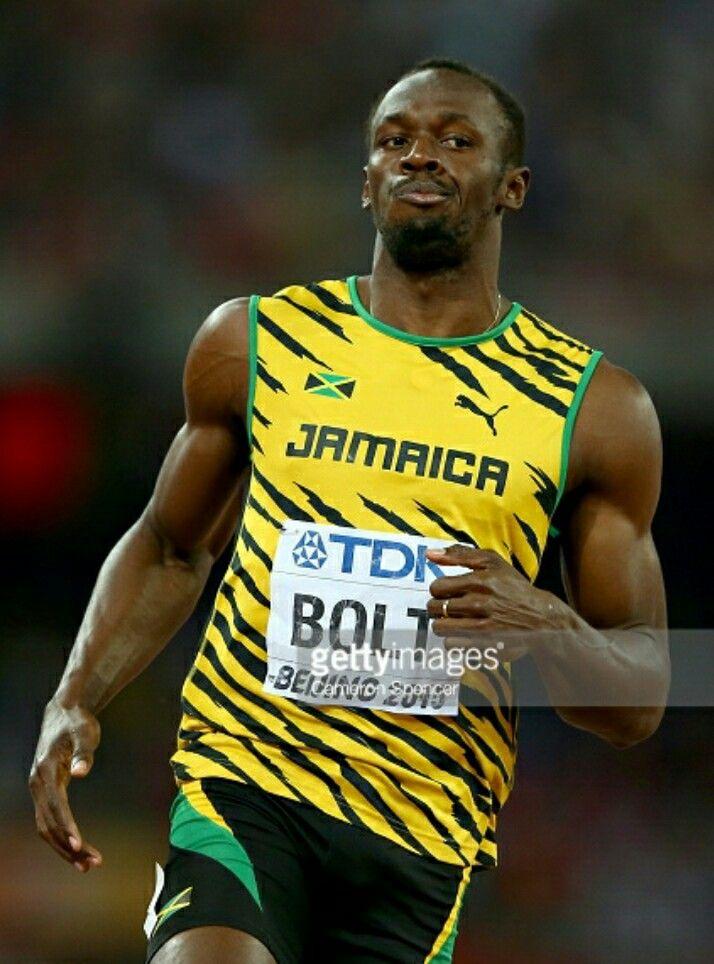 Usain Bolt, 100m gold medalist, Beijing 2015