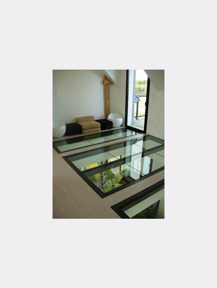 interieur planchers-suspendus Plancher verre ÉPURE cuisine moderne