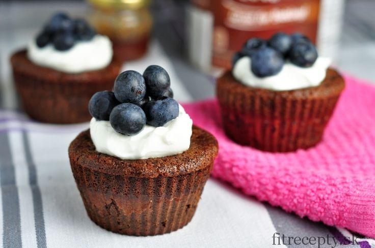 Zdravé kakaové muffiny z 5 ingrediencií - bez múky - FitRecepty