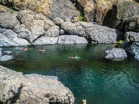 Bear Hole, located in Chico's Upper Bidwell Park, is a popular spot for people to jump off high rocks during the late spring and summer because the water is especially deep.