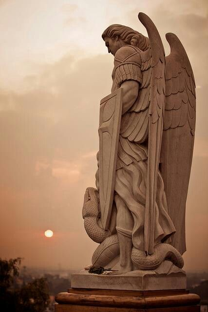 Archangel Michael at the Basilica of Our Lady of Guadalupe in Mexico City.
