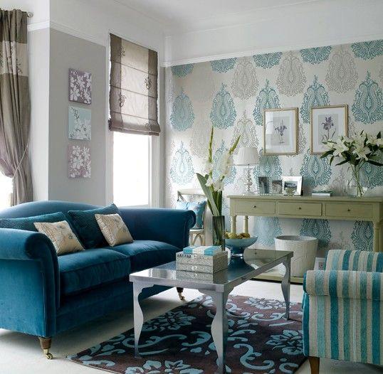 Decoração De Salas. Blue Living RoomsLiving Room IdeasTurquoise ... Part 66