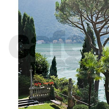 Lake Lugano viewed from Parco Scher Shower Curtain on CafePress.com