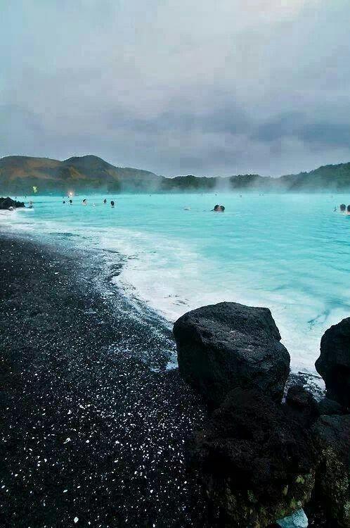 Blue Lagoon in Grindavík, Iceland.