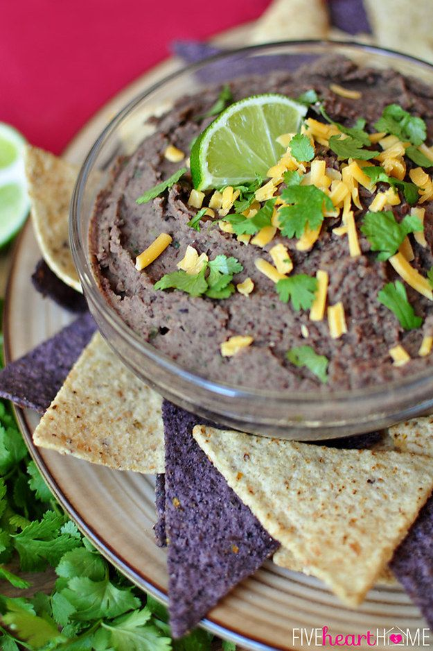Zesty Black Bean Dip | 30 Gooey And Delicious Dips That Will Make Freak Nasty Proud