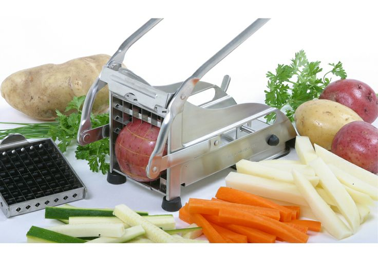 Make restaurant-quality french fries in the comfort of your own kitchen with this commercial french fry cutter. Its suction base keeps the cutter stable while in use, and a comfort grip makes the process smooth and easy.