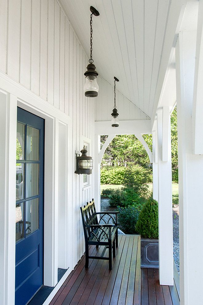 Narrow Porch Decorating Ideas. How to decorate small, narrow porches. #Narrowporch #Smallporch #porchdecor  Banks Design Associates
