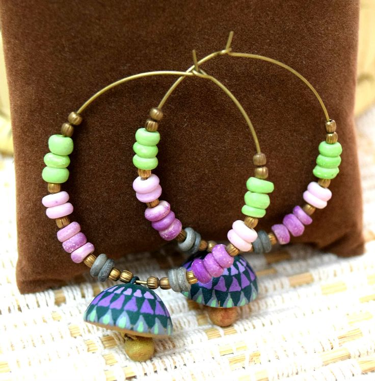 #Terracotta #Earrings, dailywear #handcrafted earrings - buy them at : http://craftsandlooms.com/collections/earrings