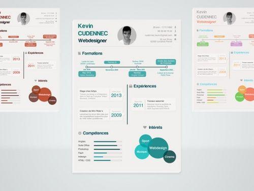 Бесплатный шаблон резюме в стиле инфографики