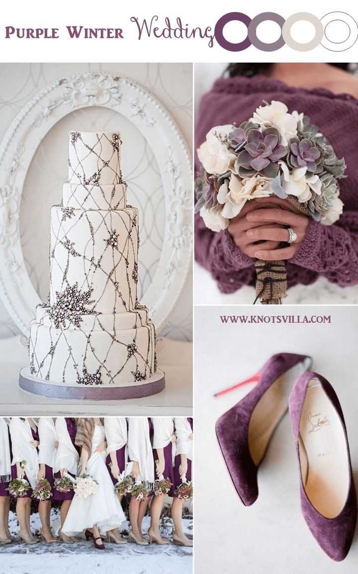 Purple Winter Wedding Inspiration » KnotsVilla