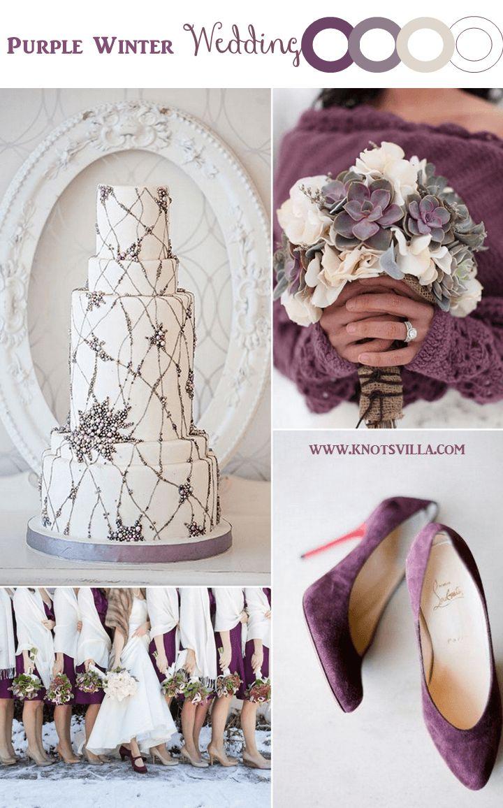 Purple Winter Wedding Inspiration » KnotsVilla