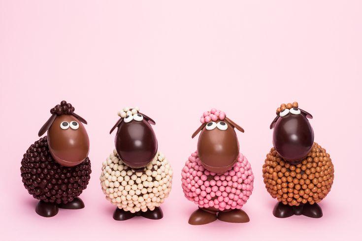 Nos animaux de Pâques font leur arrivée cette semaine sur la boutique en ligne et en succursale!!! Une petite troupe bien colorée! De gauche à droite, voici Maurice qui aime les trains , Pedro qui adore regarder les étoiles ✨, Rosalie qui aime les fraises et Gustave, qui raffole des gâteaux  !