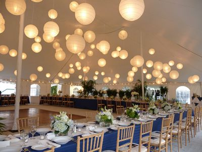Wedding Inspiration: Chinese Lanterns Hang from Ceiling | Bridesmaids and Weddings