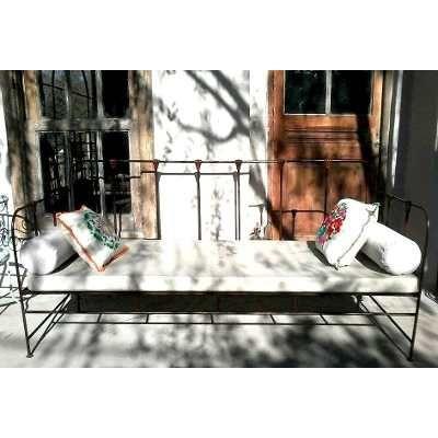 Camastro sill n de hierro en mercadolibre for Camastros de hierro para jardin
