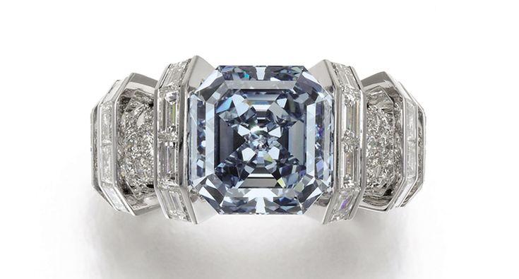 "An 8.01-carat fancy vivid blue diamond, dubbed ""The Sky Blue Diamond"" to emphasize its rare hue, sold for $17.1 million, or $2.1 million per carat"