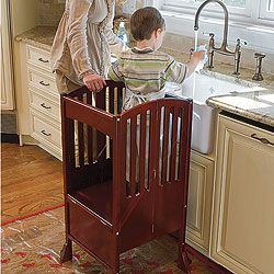 $150   I SO SO need to buy this. Kids Kitchen Helper Safety Tower Step Stool @Sondra Lafferty-Riney & @Deana Johnson