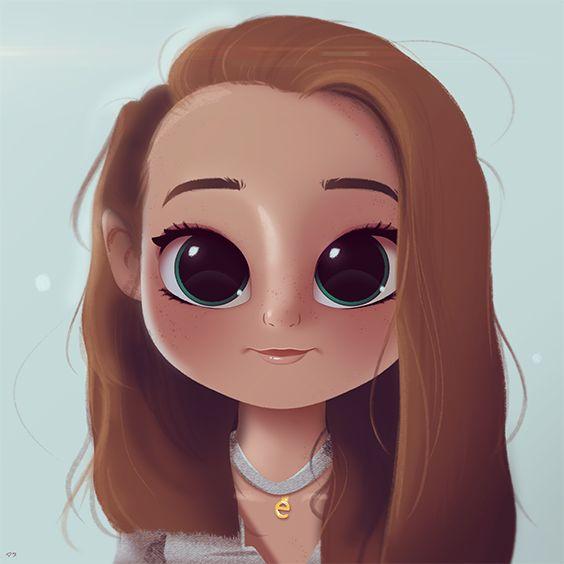 Cartoon Character Design Eyes : Cartoon portrait digital art drawing