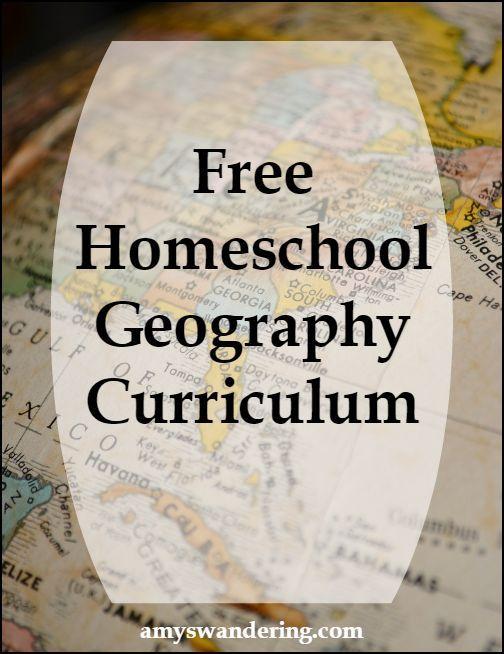 Big list of Free Homeschool Geography Curriculum