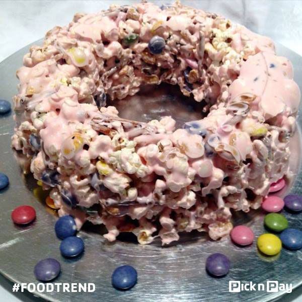 POPCORN CAKE –yay or nay? We say YAY! Interesting salty & sweet treat perfect for a kiddie Birthday bash. #foodtrend #picknpay #freshliving