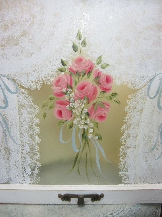 rose painted window