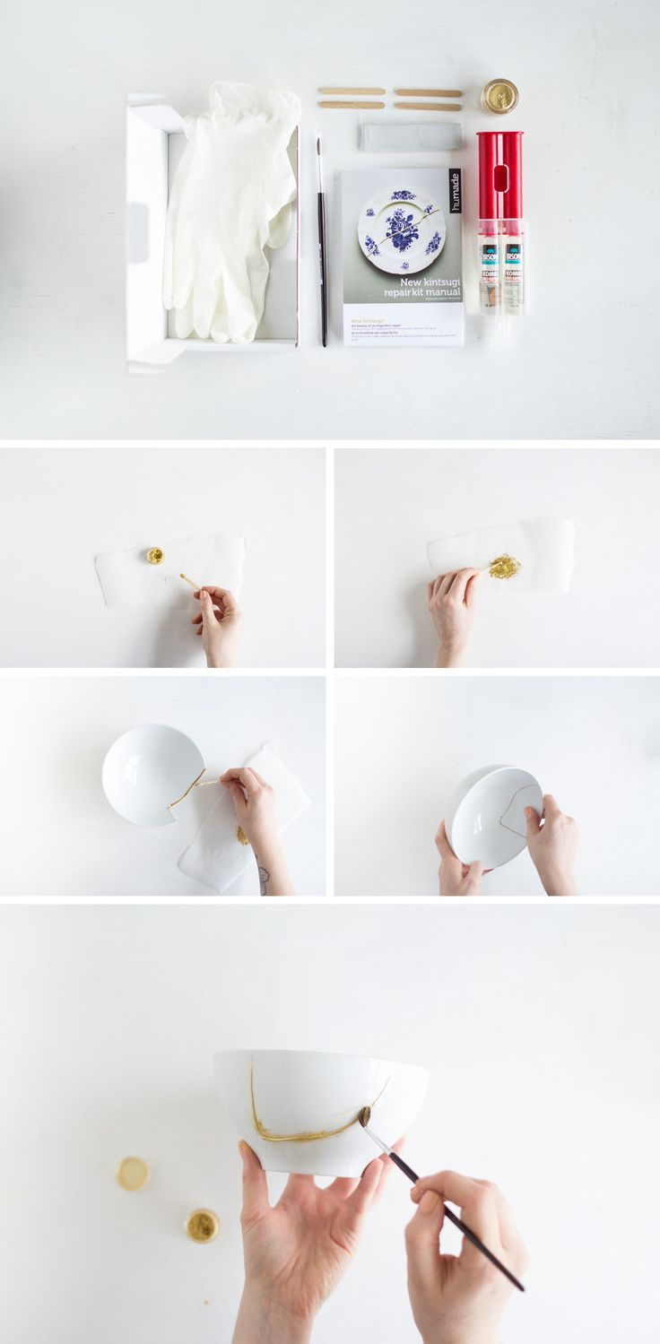 Fall For DIY | Gold Kintsugi Ceramic Planter tutorial