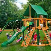 Gorilla Playsets Navigator Swing Set w/ Timber Shield™ and Deluxe Green Vinyl Canopy 01-0020-TS-1