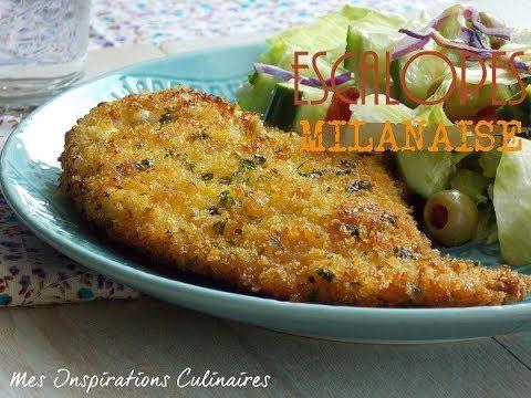 Recette escalope Milanaise en video / Chicken Milanese