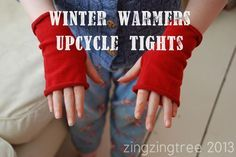 DIY Fingerless Gloves Made From Old Tights