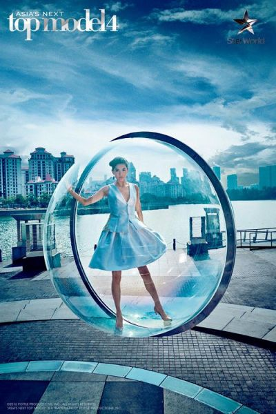 Jessica from Asia's Next Top Model wearing #MelissaBui SS16 for the Bubble Couture shoot
