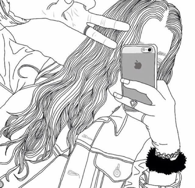 Menina linda tirando foto:Iphone