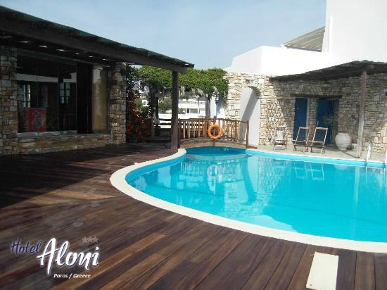 Another view of the pool Aloni Paros hotel