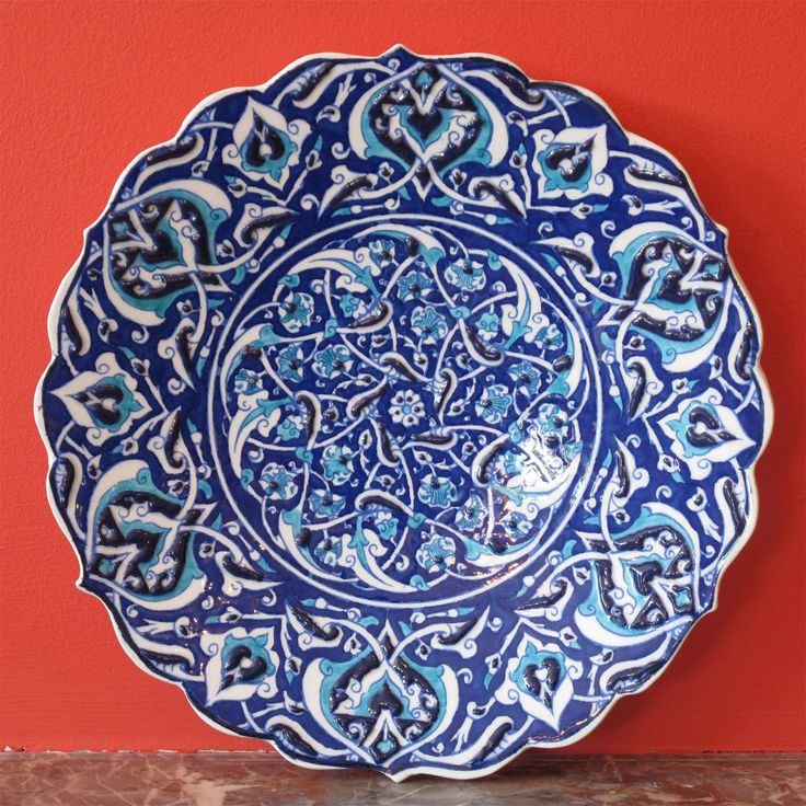 Style 682: Turkish Iznik Ceramic Plate.