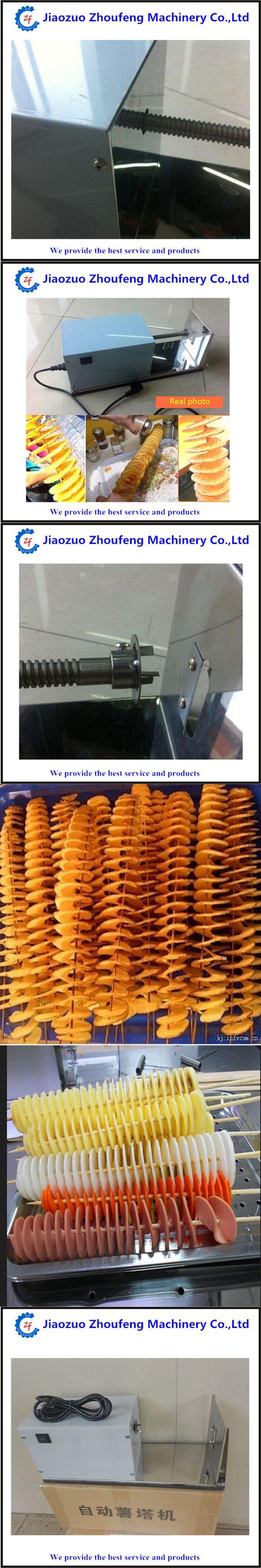Electric stainless steel spiral potato slicer tornado potato cutter machine potato tower fruit vegetable kitchen tool  ZF