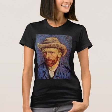 Vincent Van Gogh - Self Portrait with hat T-Shirt - tap, personalize, buy right now!