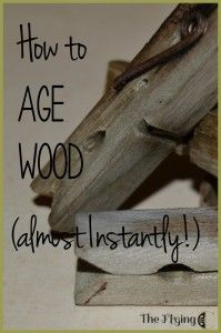 How to age wood (almost) instantly! Try this. May be an interesting way to stain the mud room bench.