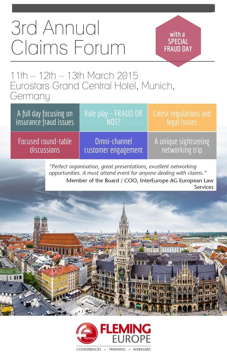 Explore Munich, the venue of the 3rd Annual Claims Forum. Enjoy special features including the unique sightseeing tour and local delicacies tasting.  http://finance.flemingeurope.com/claims-forum