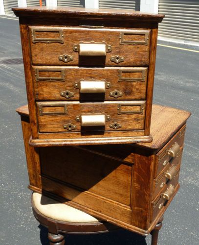 253 best furniture desks cabinets cases and drawers images on vintage 2 yawman erbe rochester ny usa oak wood file card catalog cabinets ebay asking malvernweather Image collections