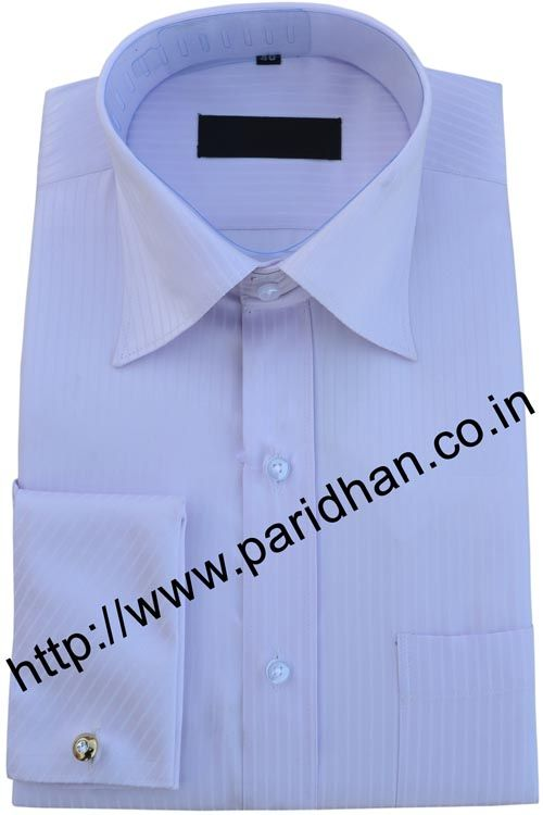 long sleeved white shirt made in cotton fabric.