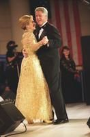 President William Jefferson Clinton and First Lady Hillary Rodham Clinton Dancing at the Tennessee Inaugural Ball in Washington, DC. January 20, 1997- from the Clinton Presidential Library