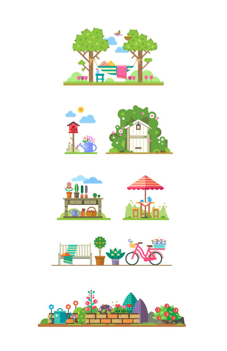 Vector garden story on Behance