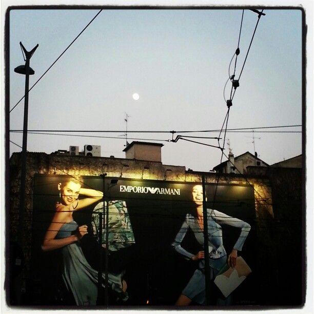New moon on Milan