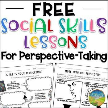 Use these lessons to teach critical social skills of perspective-taking to kids, including understanding perspectives, developing their own perspectives, and recognizing there can be more than one point of view in a situation. This resource includes two complete activities with an educator