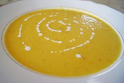 Kürbis - Mango - Suppe 1