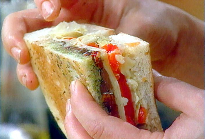 Vegetable Antipasto Stuffed Bread from FoodNetwork.com