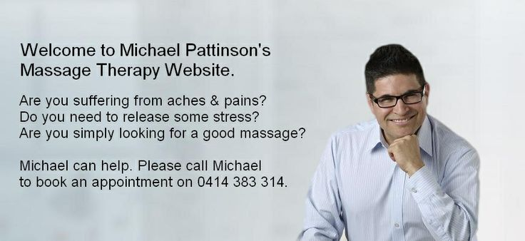 Hi. I'm Michael Pattinson and I'm a Melbourne Remedial Massage Therapist. Here I am — online and at your service!  Chances are you've Googled me in search of good remedial massage in Melbourne by the recommendation of a friend or colleague. I am a trusted pain massage therapist in Melbourne. Almost all of my new patients come to me by way of personal referrals from people whose opinions they trust.
