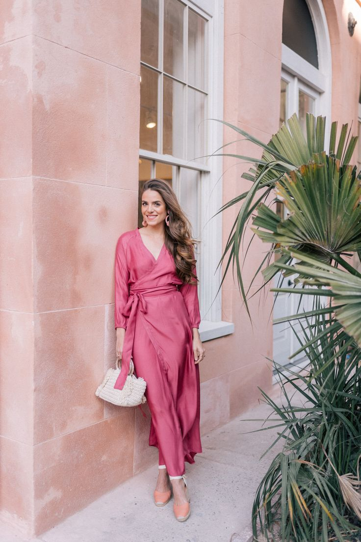This glam maxi is perfect for transitioning to spring